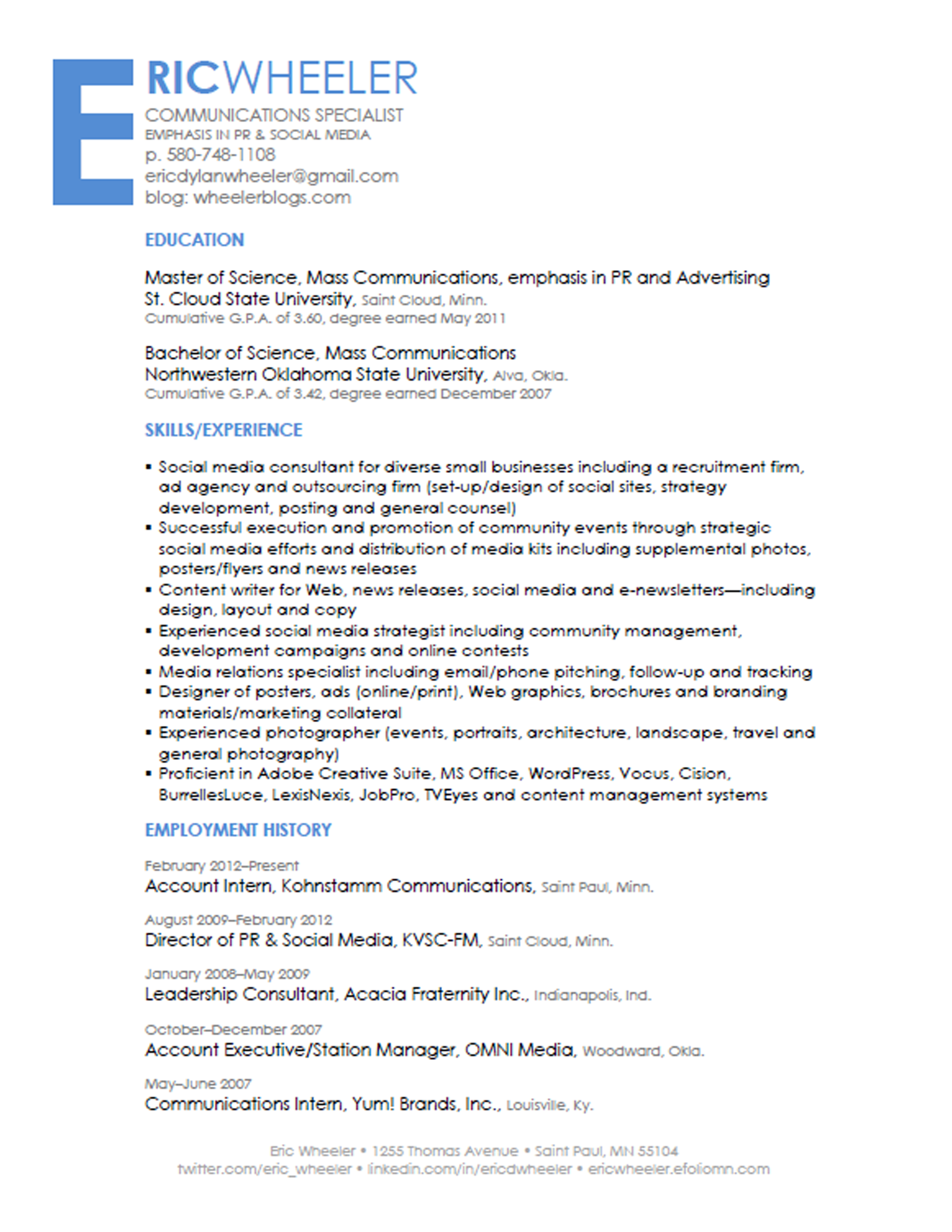 jobs in journalism informatics social media specialist resume sample