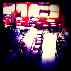 Photo of a bar in Rapid City, S.D. with tilt-shift applied.