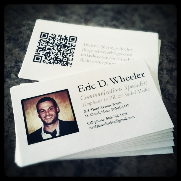 What ive learned from using qr codes wheeler blogs qr codes on business cards reheart Images