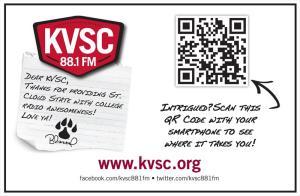 QR code in a print advertisement.