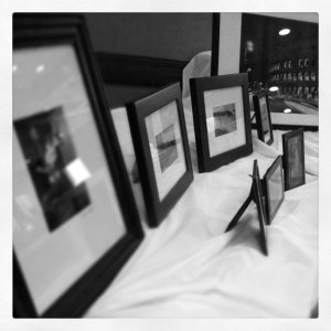 My photos setup at my first art show--the St. Cloud Art Crawl.