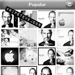 Instagram users react to the passing of Steve Jobs.