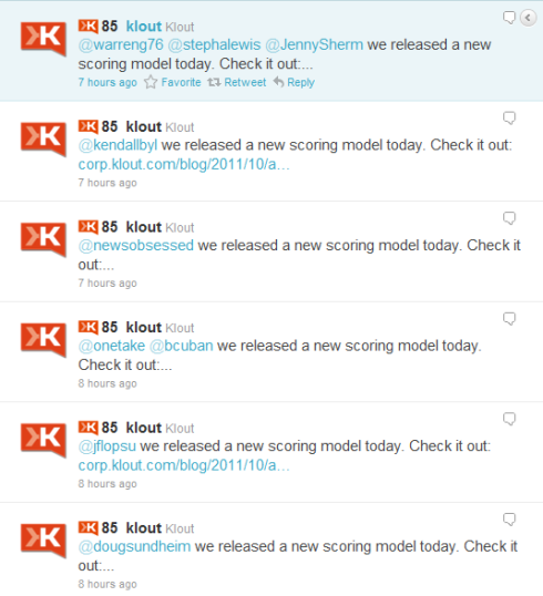 Klout changes algorithm