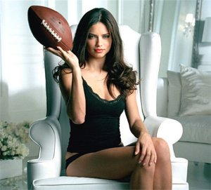 Victorias Secret Adriana Lima Football in 2012 Super Bowl Commercial