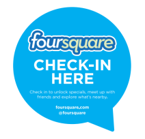 Foursquare check in decal