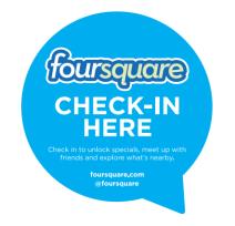 Foursquare check in decal