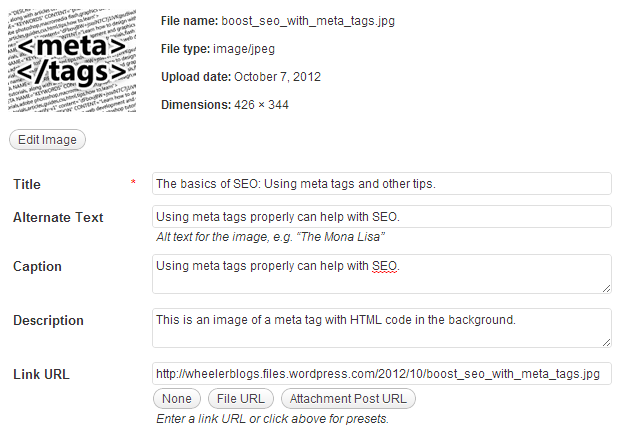 Adding Image Tags