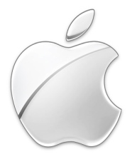 Image of Apple's logo in silver