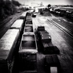 Rail yard in Saint Paul, MN