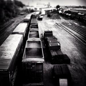 Rail yard in Saint Paul, MN