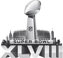 Image of the Super Bowl XLVIII logo.