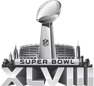 Image of the Super Bowl XLVIII logo.